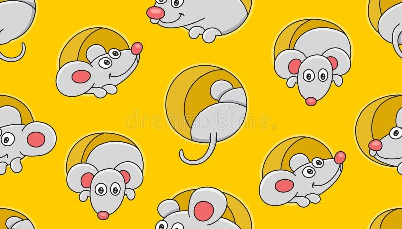 mouses deseniuj? bezszwowego royalty ilustracja