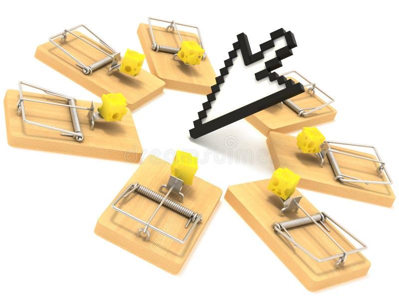 mousetrap стрелки стоковое изображение