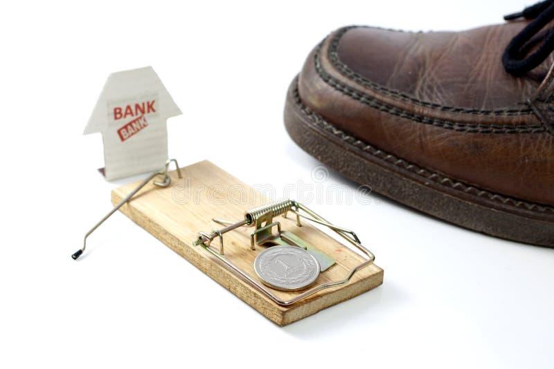 Mousetrap установленный банком стоковое фото rf