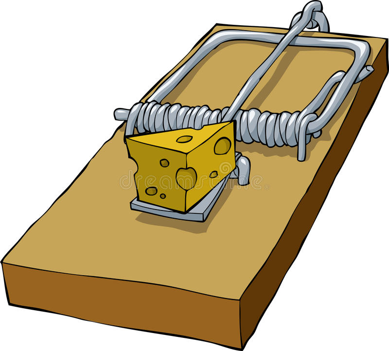 Mousetrap illustrazione di stock