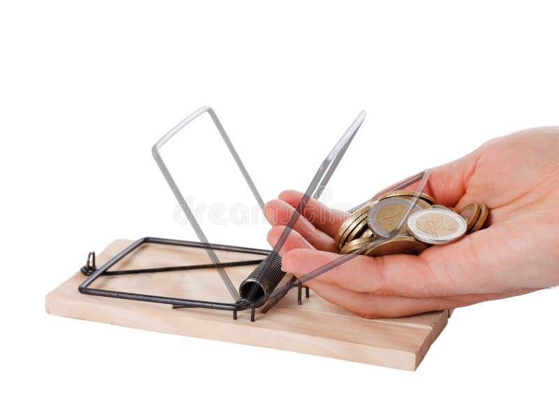 mousetrap för handpengar arkivbild