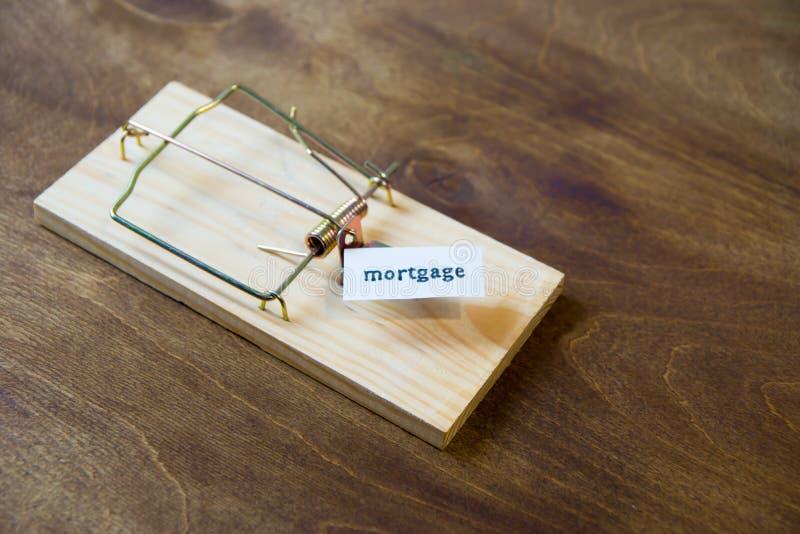 mousetrap Fall inte för betet Alltid funderare om följderna arkivfoto