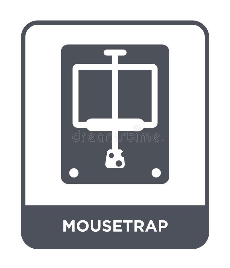 mousetrap icon in trendy design style. mousetrap icon isolated on white background. mousetrap vector icon simple and modern flat royalty free illustration