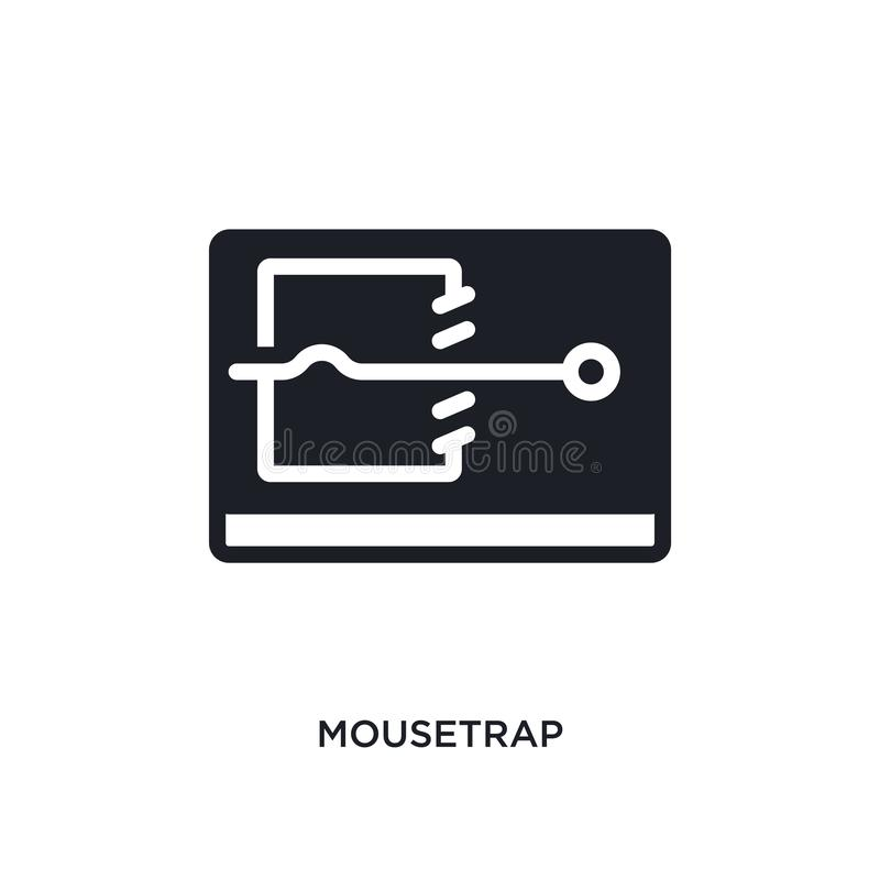 Mousetrap isolated icon. simple element illustration from electronic devices concept icons. mousetrap editable logo sign symbol. Design on white background. can stock illustration