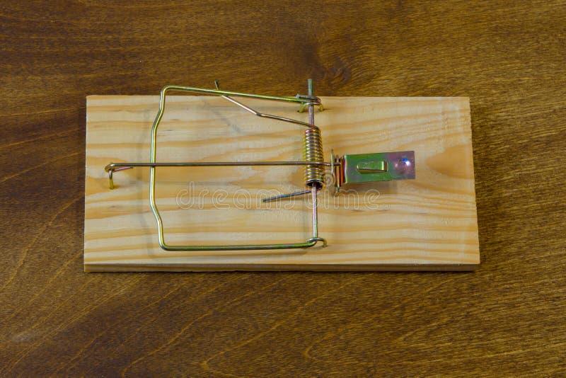 mousetrap Non cada per l'esca Pensi sempre alle conseguenze fotografia stock