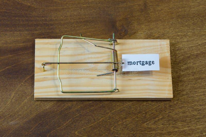 mousetrap Val niet voor het aas Denk altijd over de gevolgen stock afbeelding