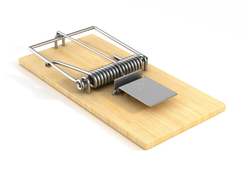 Mousetrap on white background. Isolated 3D. Image stock illustration