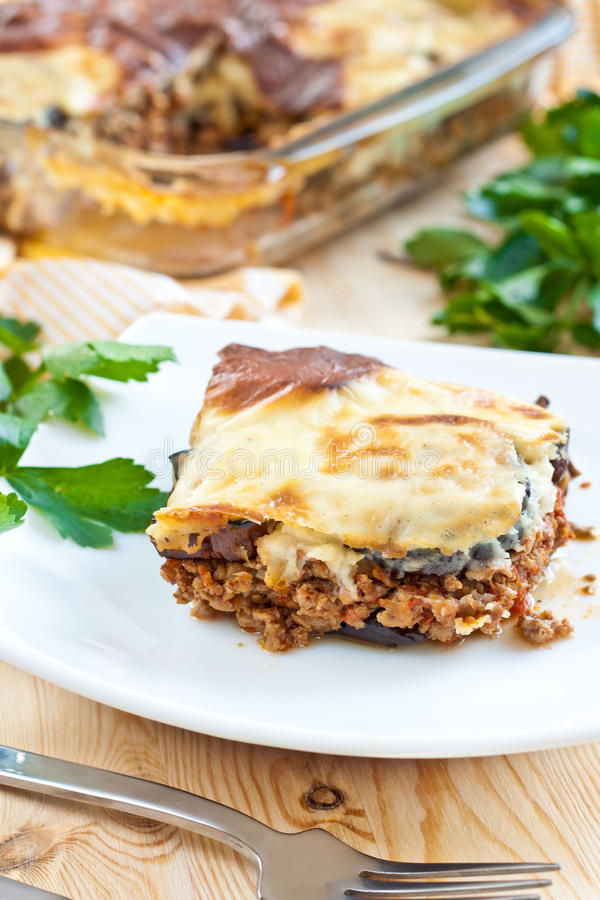 Moussaka photographie stock