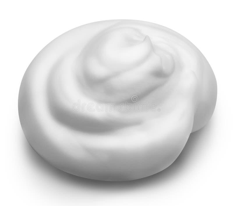 Mousse blanche d'isolement sur le fond blanc avec le chemin de coupure photographie stock libre de droits