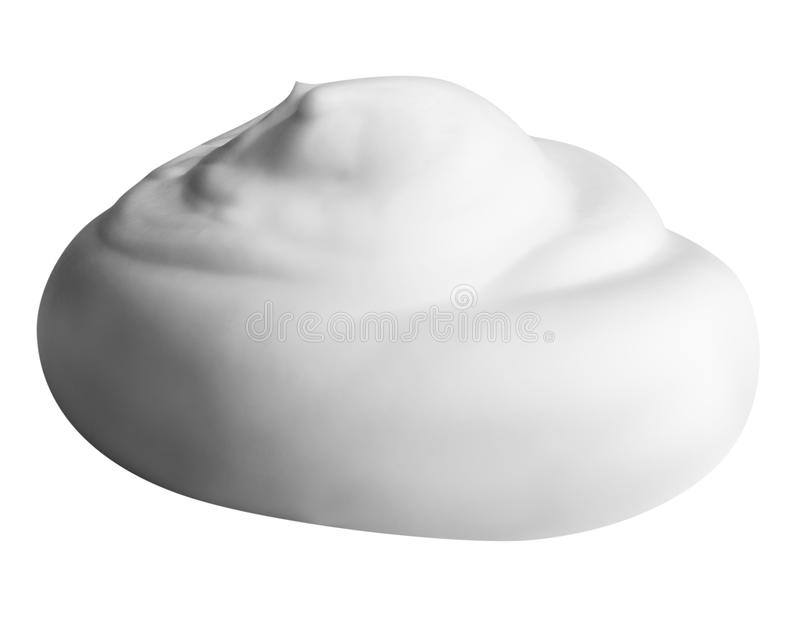 Mousse blanche d'isolement sur le fond blanc avec le chemin de coupure photos stock