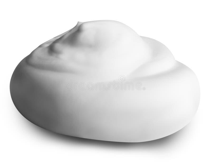 Mousse blanche sur le fond blanc avec le chemin de coupure image libre de droits