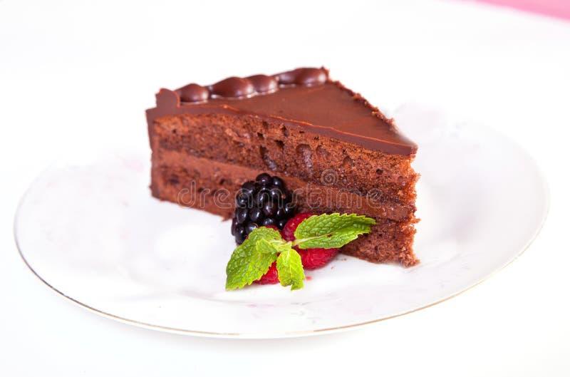 Mousse czekoladowy tort zdjęcia royalty free