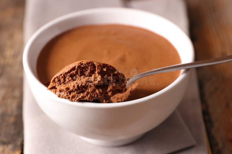 Mousse de chocolat images stock