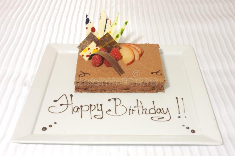 Mousse de gâteau d'anniversaire photos stock