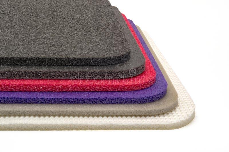 Mousse de polyéthylène, matériel multi de couleur photographie stock libre de droits