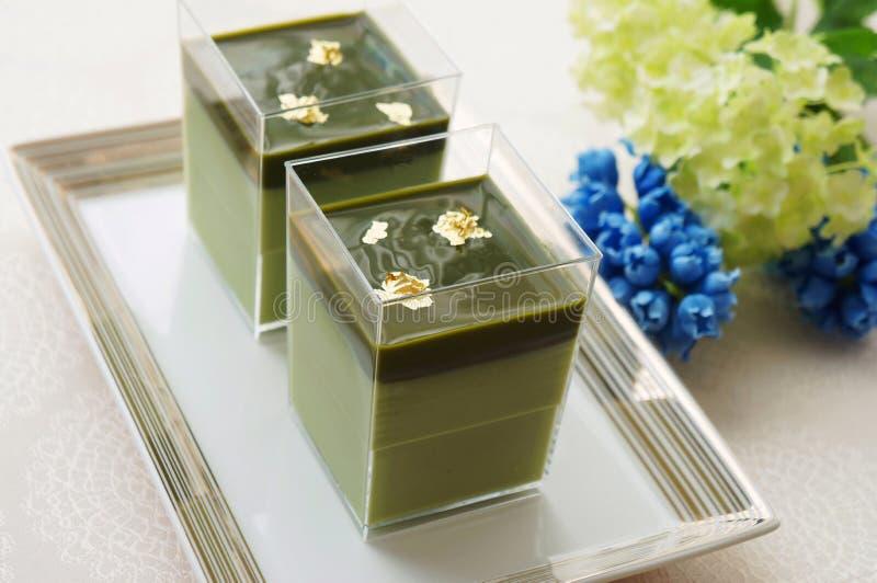 Mousse de thé vert de Matcha photo libre de droits
