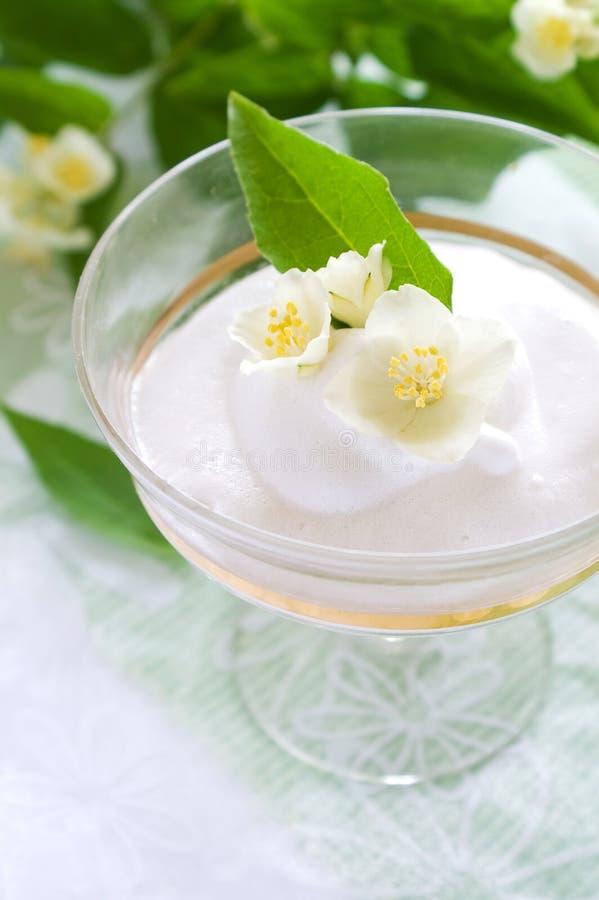 Mousse de vanille photos stock