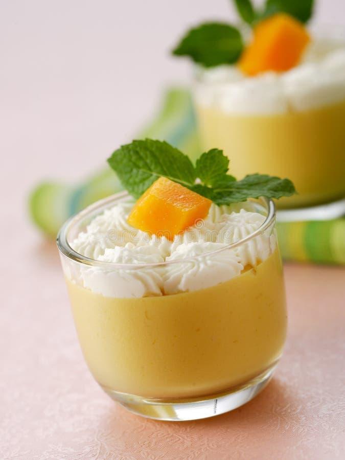 Mousse del mango immagine stock
