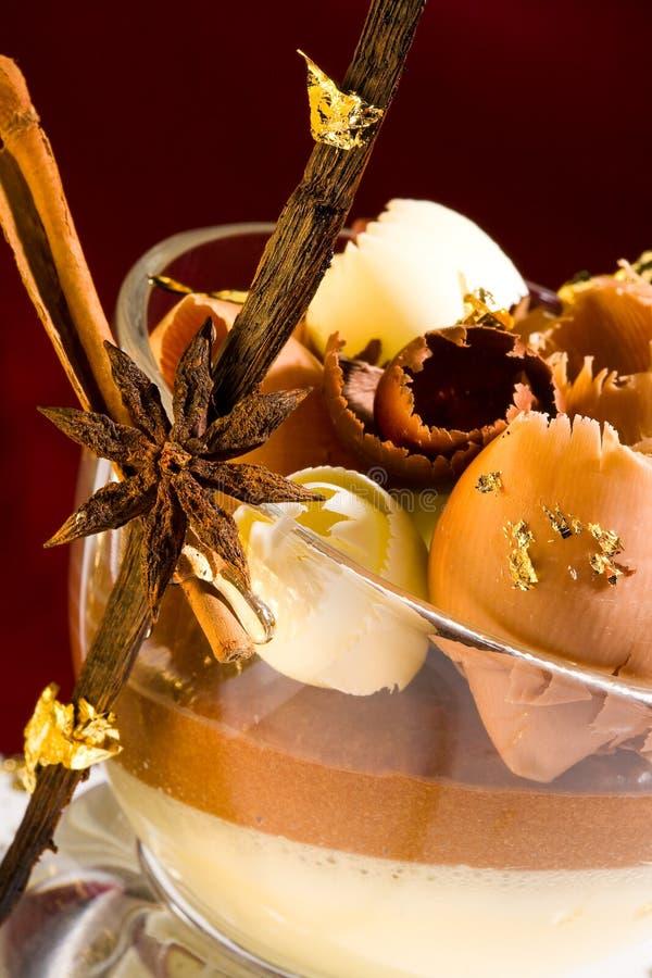 Mousse dessert royalty free stock photo