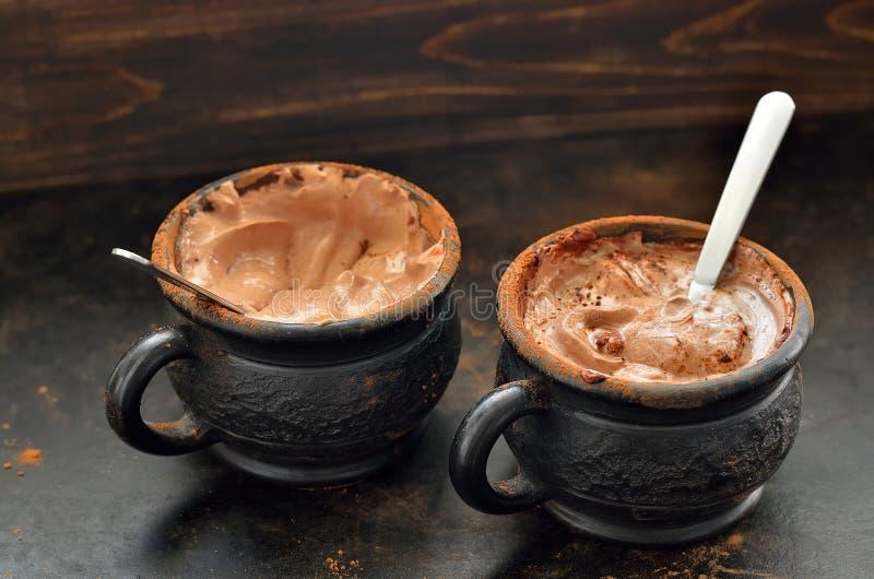 Mousse di cioccolato immagine stock
