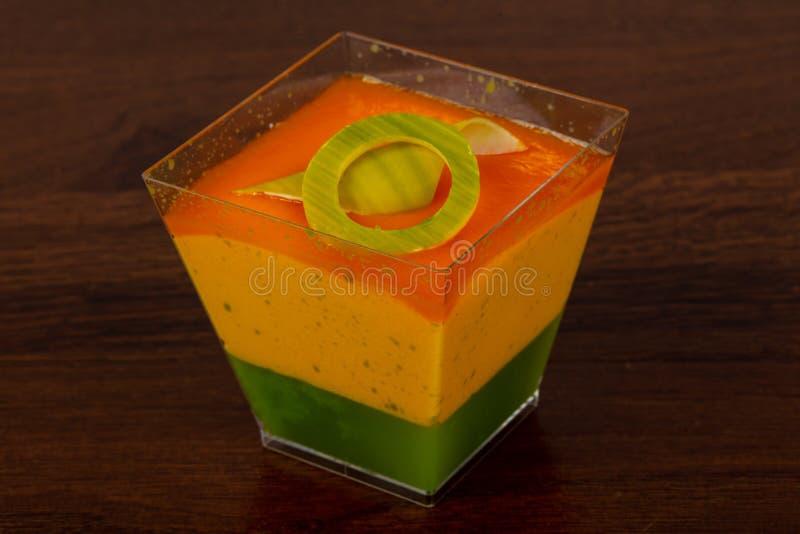 Mousse douce de mangue photo stock