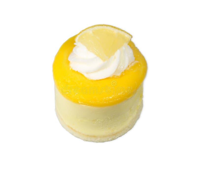 Mousse isolata del limone immagine stock