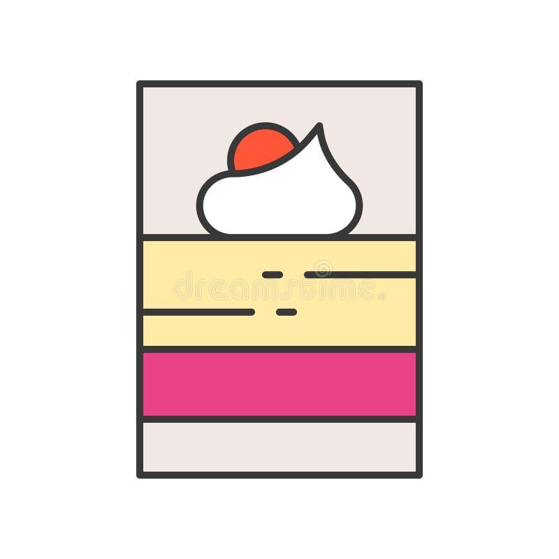 Mousse w strzału szklanym deserze cukierki i ciasto set, wypełniał outl ilustracji