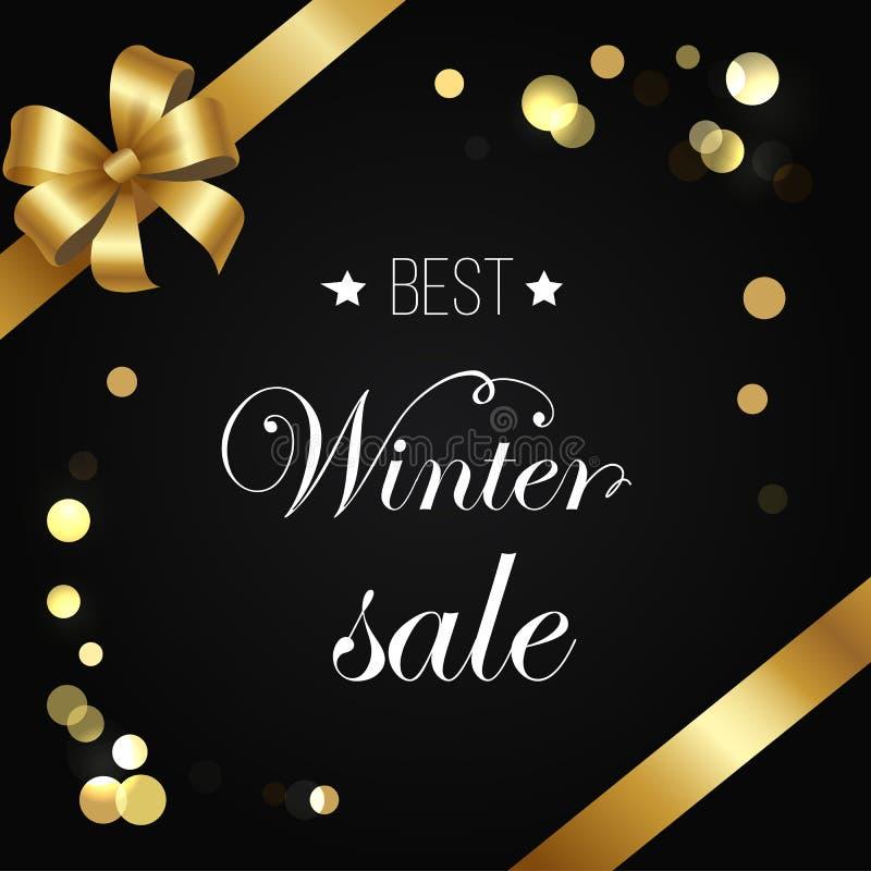 Mousserande beståndsdelar för bästa vektor för vinterSale affisch royaltyfri illustrationer
