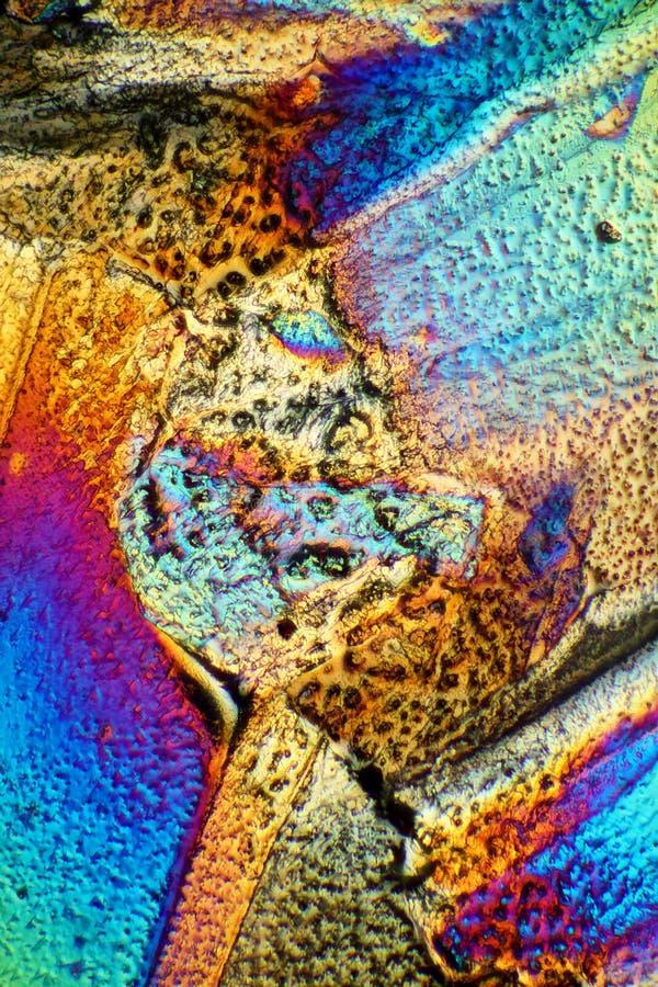 Mousserande kristaller av Cane Sugar arkivfoton