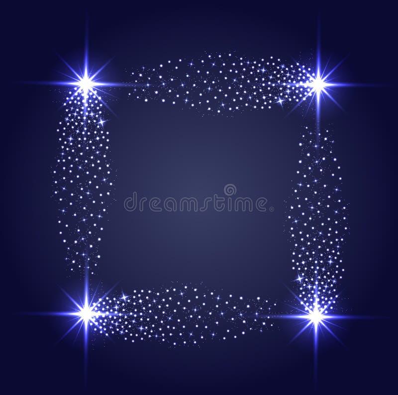 Mousserar glödande stjärnaghts för vektor och royaltyfri illustrationer
