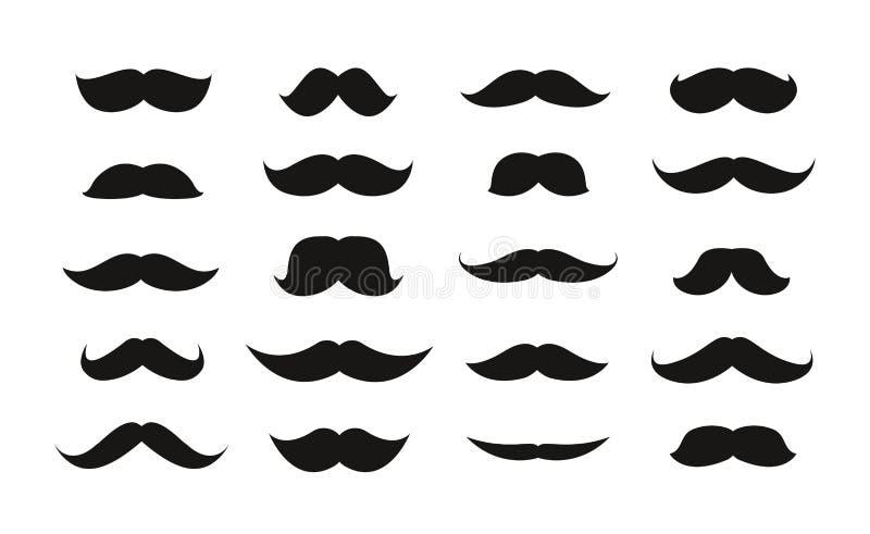 Moustache στο άσπρο υπόβαθρο επίσης corel σύρετε το διάνυσμα απεικόνισης απεικόνιση αποθεμάτων