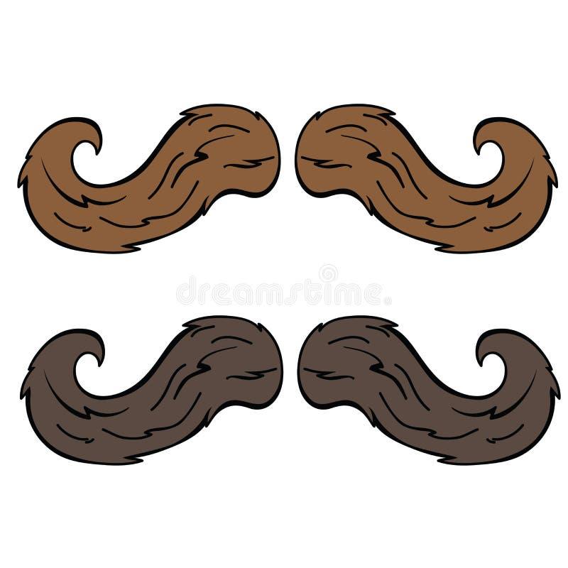 moustache illustrazione vettoriale