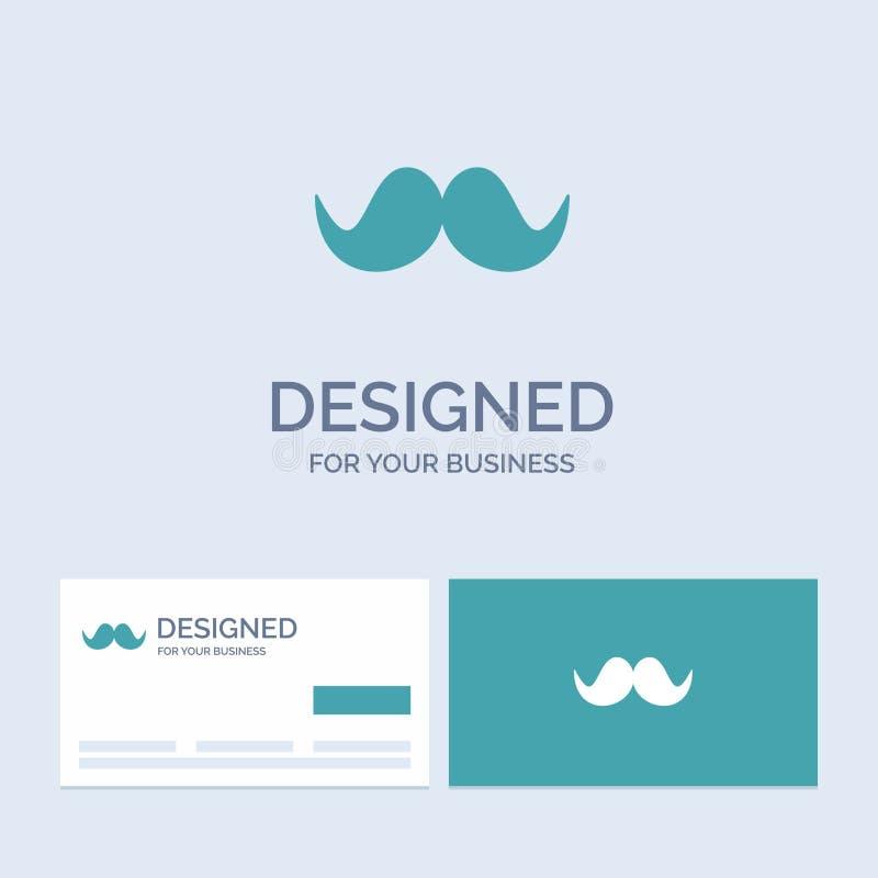 moustache, Hipster, movember, αρσενικό, σύμβολο εικονιδίων Glyph επιχειρησιακών λογότυπων ατόμων για την επιχείρησή σας Τυρκουάζ  απεικόνιση αποθεμάτων