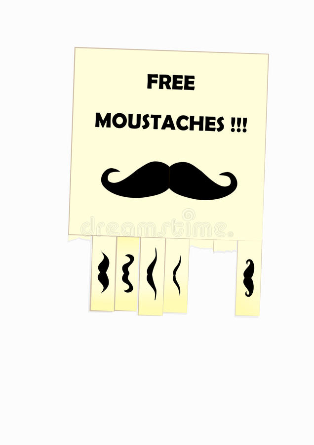 Download Moustaches stock vector. Illustration of background, abstract - 26838205