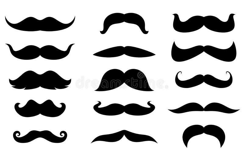 Moustaches d'homme illustration libre de droits