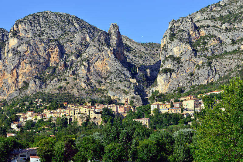 Moustiers Sainte Maria obrazy royalty free