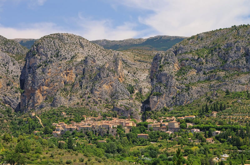 Moustiers-Sainte-Marie stockbild