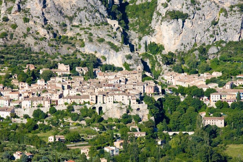 Moustiers Sainte Marie, Alpes-de-Haute-Provence Abteilung, Fra stockfoto