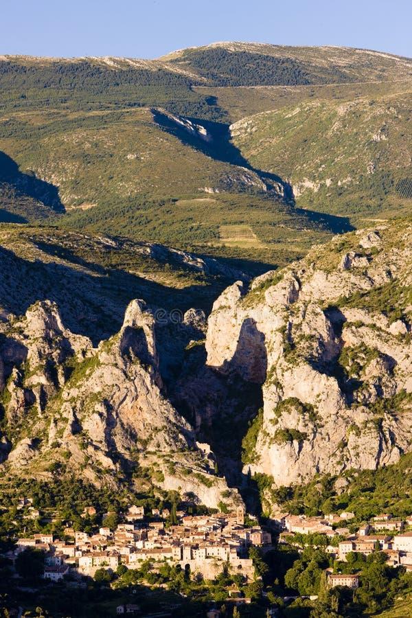 Moustiers Sainte Marie, Alpes-de-Haute-Provence Abteilung, Fra stockbilder