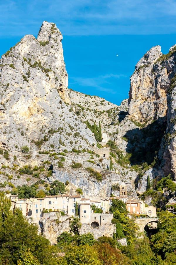Moustiers Sainte Marie, Alpes-De-Haute-Provenceabteilung, Frankreich stockbild