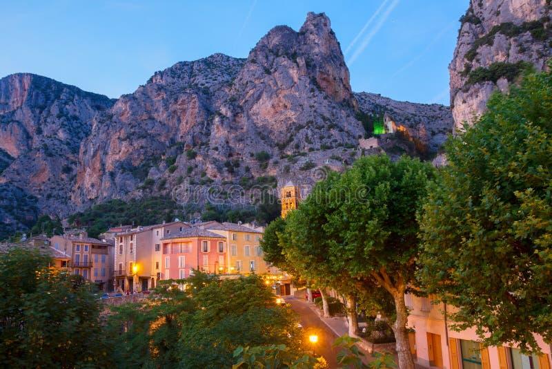 Moustiers-Sainte-Marie, Francja, Provence zdjęcie stock