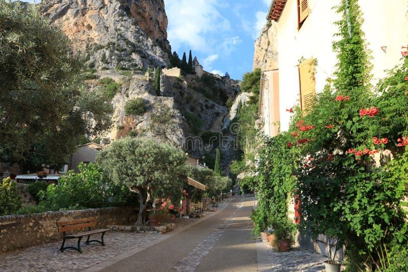 Moustiers-Sainte-Marie, Frech Provence imagem de stock