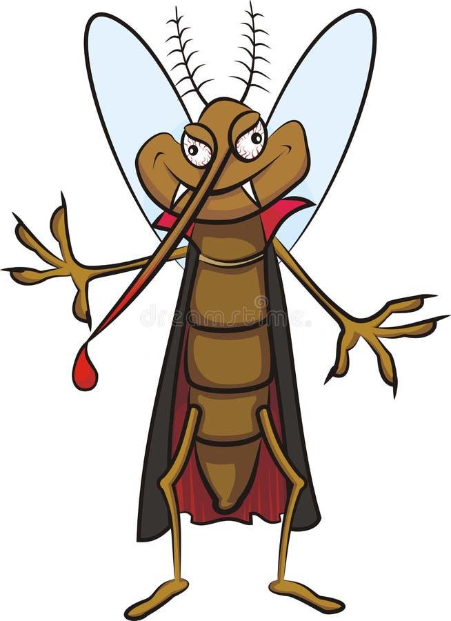 Moustique de vampire illustration de vecteur