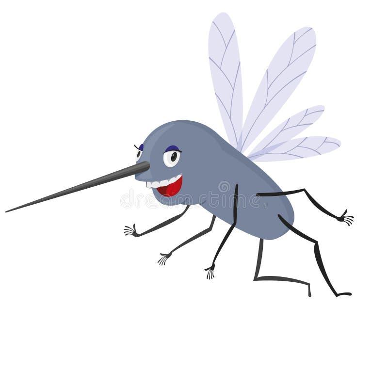 Moustique drôle illustration stock