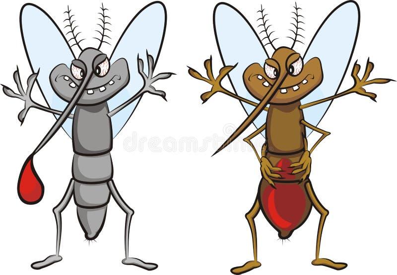 Moustique glouton illustration libre de droits