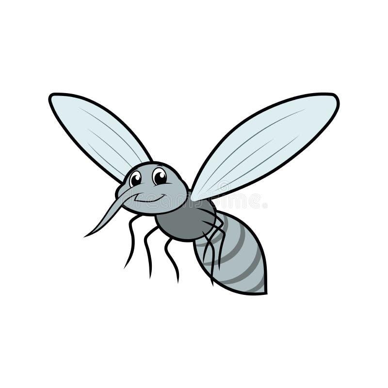 Moustique volant de sourire illustration stock