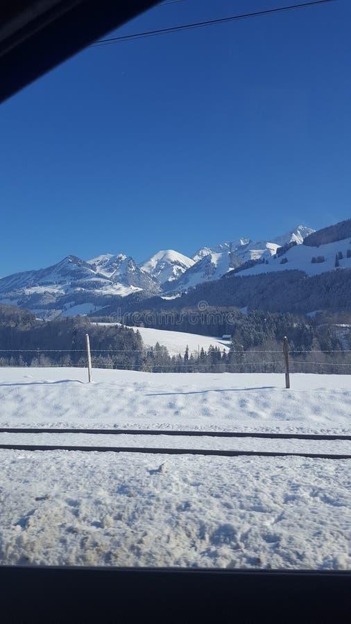 Moutain грюйера в Швейцарии стоковая фотография rf
