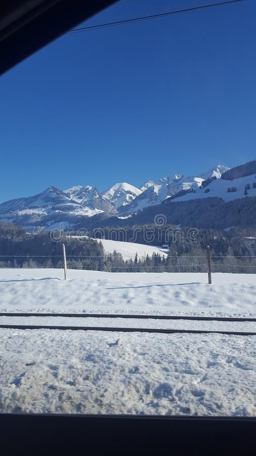 Moutain di groviera in Svizzera fotografia stock libera da diritti