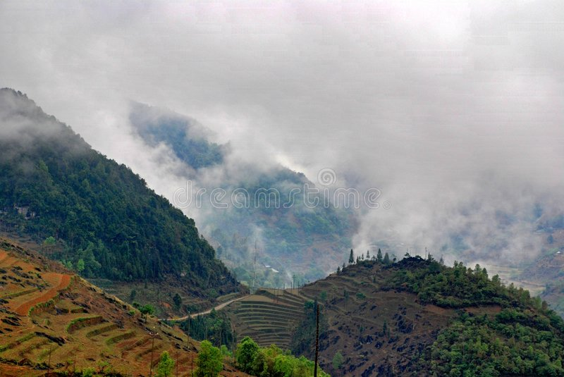 Moutain landscape in Sapa stock photos