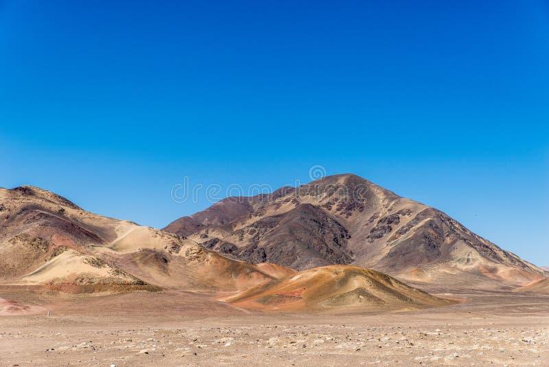 Moutain no deserto fotografia de stock royalty free